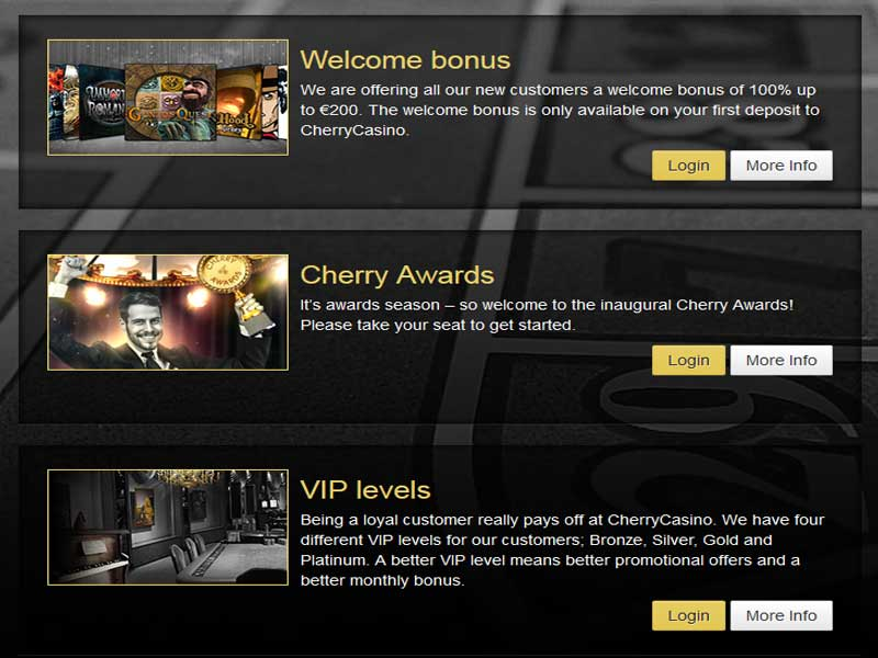 Screen shot of the Promotions