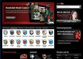 Nordicbet home page