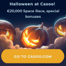 A €20,000 Halloween Space Race starts at Casoo casino