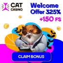 Cat Casino - Weekly Tournament: €300 Prize Pool
