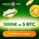Come join the MaxCazino for its April Cash Days promo: €60,000