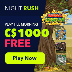 October Rush Race: C$5000 + 1500 Free Spins - Night Rush