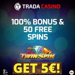 Trada Casino is hosting a Prize Giveaway with £/€/$50,000