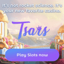 Daily bonus surprises, free spins and cash-back from Tsars