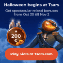 Multiple Halloween treats now await at the online casino Tsars